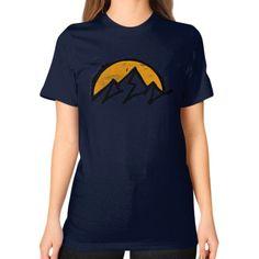 Mountain sun Unisex T-Shirt (on woman)