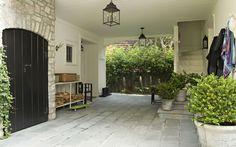 Breezeway, White, Exterior Stair, Outdoor Stair, Tim Barber Ltd. Architecture, Kristen Panitch Interiors