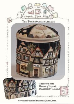 (7) Name: 'Quilting : Townhouses in Alsace-XLround box MJJenek
