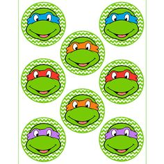 New birthday party boy teenagers ninja turtles Ideas Turtle Birthday Parties, Ninja Turtle Birthday, Ninja Turtle Party, Ninja Turtles, 4th Birthday, Birthday Ideas, Tortugas Ninja Leonardo, Ninja Turtle Cupcakes, Cupcake Toppers Free