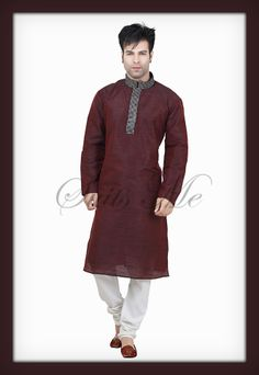 Check out this original collection by Suits Me http://www.suitsmeonline.com/mens-kurta-pajama/men-kurta/men%27s-wear/smm0208.aspx