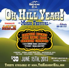 Oh Hill Yeah! Music Festival at Harmony Hill!