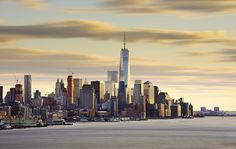 One World Trade Center with Cloud