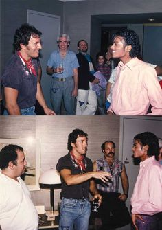 Bruce Springsteen and Michael Jackson | Rare and beautiful celebrity photos