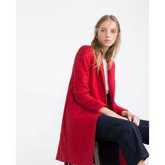 Zara Masculine Wool Coat (€155) ❤ liked on Polyvore featuring outerwear, coats, white coat, wool coat, zara coat, woolen coat and white woolen coat
