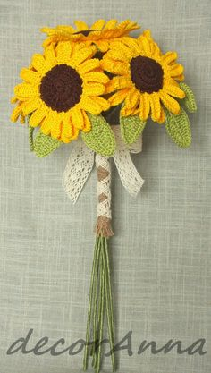 crochet sunflowers bouquet                                                                                                                                                                                 More