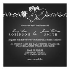 Save The Date - black and white wedding stationery