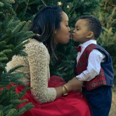 DIY Tartan Vest & Tulle Skirt // Tab! my sew sister looking holiday beautiful with her little gentleman!