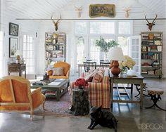 orange berger chairs