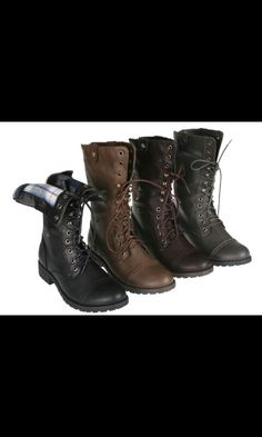 Combat boots... I want some of these so bad!