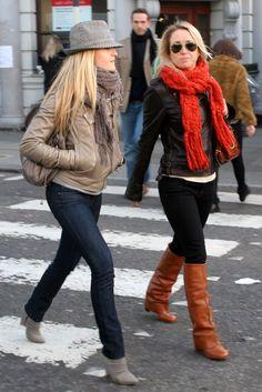 I love Fall. Boots, jackets, scarfs. :)