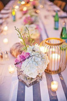 A Romantic Backyard Anniversary Dinner