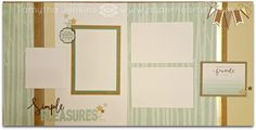 "Simple Pleasures scrapbook layout using CTMH ""Oh Deer! Workshop-Your-Way papers, complements and assortments. Uses gold and silver foil tape. All products from Close To My Heart. Created by Tamytha Jenkins at paperheartist.com"