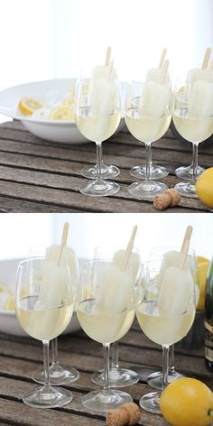 Champagne-popsicles great for a summer day!