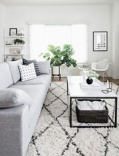 West Elm Black And White Modern Living Room By Amy Kim Of Homey Oh My Home Decor Ideas Interior Design Tips