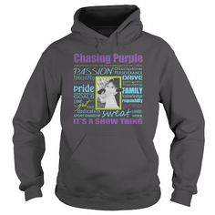 Awesome Tee Chasing Purple Show Lamb  PurpleLime Shirts & Tees