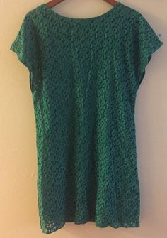 Adrianna Papell Emerald Green Lace Dress Size 8 | eBay