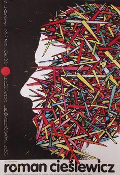 Roman Cieslewicz exhibition, Teatr Narodowy Original Polish poster designer: Roman Cieslewicz year: 1980 size: B1