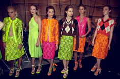 neon lace. christopher kane spring '11