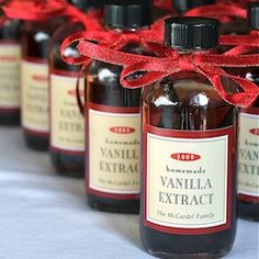 Best gift idea EVER! Homemade vanilla extract. Consist of only two ingredients: vanilla beans and unflavored vodka. Let the two steep together for 6-8 weeks and you have vanilla extract with an incredibly long shelf life. These just might be my Christmas gifts this year.
