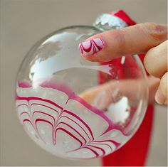 Candy Cane Marbled Christmas Ornaments ~ Be Different...Act Normal
