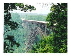 Bridge across Cumberland Gap in Kentucky