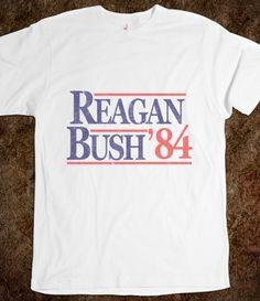 Vintage Reagan / Bush '84 T-Shirt.  Yes, Please