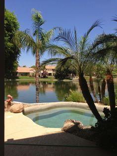 Lake View Backyard in Ocotillo (Chandler, Arizona)