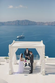 Santorini Destination Wedding with Anna Roussos | Fly Away Bride