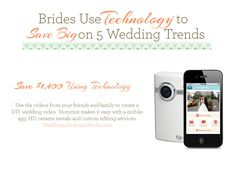 Wedding Infographic How to Save Money With DIY Wedding Video    Use the videos from your friends and family to create a DIY wedding video. Storymix makes it easy with a mobile app, HD camera rentals and custom editing services.