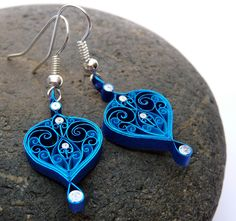 Earrings - Eco-friendly, quilled paper, paper quilling. $22.70, via Etsy.