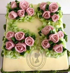 Buttercream pink roses