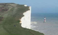 Beachy Head lighthouse, a couple of miles outside Eastbourne.  http://www.southdownsdiscovery.com/eastbourne.php