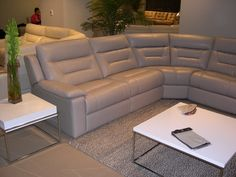 HTL Leather Sectional - High back, very contemporary. Las Vegas Furniture Market, Sectional, Decor, Home, Furniture Market, Furniture, Home Furniture, Sectional Couch, Leather Sectional