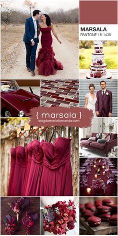 Decoração de Casamento : Paleta de Cores Marsala   http://blogdamariafernanda.com/decoracao-de-casamento-paleta-de-cores-marsala