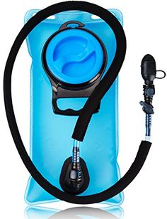 Hydration Water Bladder Bag 1.5 Liter Pack - With Insulated Mouth Tube Valve - Best for Camping Hiking Climbing Outdoor Cycling and Running - Sports Backpack Reservoir System - Military & BPA Free. No plastic smell/taste: Take on bicycle trips with storage pouch. 0.3 gallons. Quick release with shutoff valve. Wide and portable. 50 Oz durable tank, clean, no plastic taste on the nozzle hose. Insulated Tube Cover: Replacement bladder with wide opening container for ice cubes. Food grade. Carry…