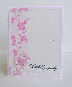 """A card I created using the Clearly Inspired stamp set """"Brushed Florals""""."""