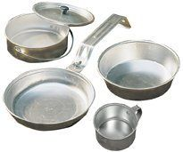 Coleman Aluminum Mess Kit by Coleman, http://www.amazon.com/gp/product/B0009PUR4A/ref=cm_sw_r_pi_alp_IgK1pb0TYH4GH (because you can't stick your hand in the fire)