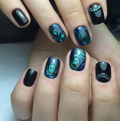Nail Art For Short Nails Deep Green – NailSet.net