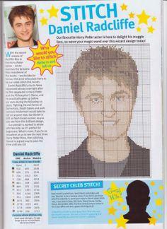 sandylandya@outlook.es Daniel Radcliffe Cross Stitch Chart