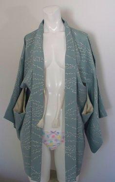 Vintage Haori Kimono  A vintage silk kimono in heavenly blue.