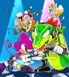 Charmy,Espio and Vector Sonic Sega Game, Sonic & Knuckles, Dragon Ball, Sonic Franchise, Sonic Fan Art, Game Character, Funny Comics, Game Art, Charizard