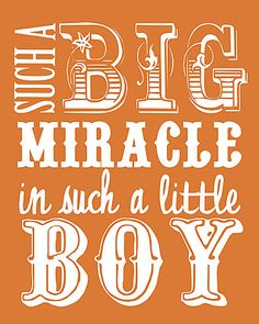 free nursery printable download  quote boy orange- other colors for boys and girls #baby