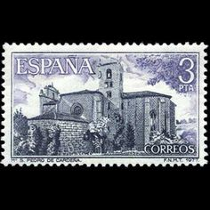 1977 28 de octubre Monasterio de San Pedro de Cardeña Stamps, Around The Worlds, Personalized Items, Vintage, Seals, The World, Stone Art, October, Transportation