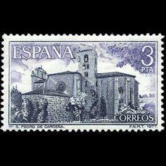 1977 28 de octubre Monasterio de San Pedro de Cardeña Stamps, Personalized Items, Vintage, Seals, World, Ecards, Stone Art, October, Transportation