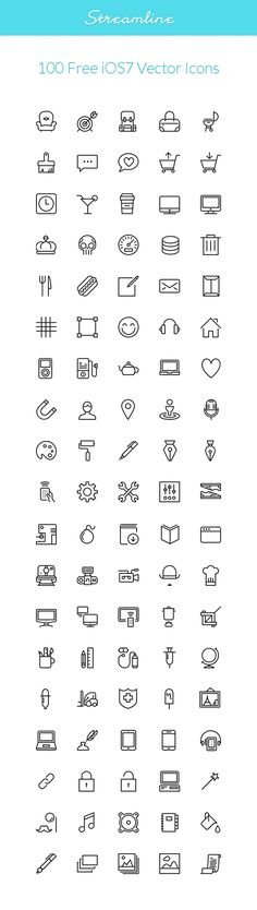 Vector Web Icons - Streamline: iOS7