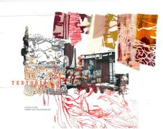 Fabric and colour board from my portfolio - 'Abstract Romanticism' Fashion Illustration Collage, Illustration Story, Fashion Collage, Fashion Portfolio Layout, Fashion Design Sketchbook, Textiles Sketchbook, Art Sketchbook, Conceptual Fashion, Drawing Journal
