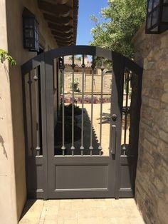 Wrought Iron Metal Gates for Courtyards & Gardens