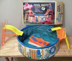 Vintage Barbie Pool Party 1973 Play Set in by ScrappyStudios