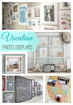 Beautiful and creative ways to display your travel and vacation photos - so nice to actually do something with all of those photos instead of letting them sit on the computer!